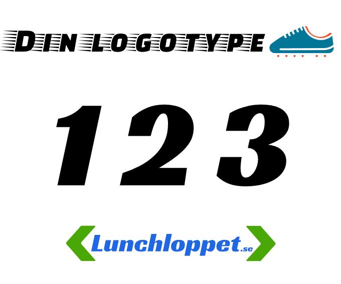 Sponsor nummerlapp Lunchloppet